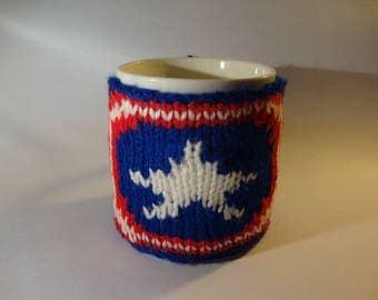 Captain America mug cosy