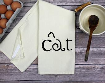 Kitchen Dish Towel - Tea Towel - Hand Towel - Kitchen Towel - Dish Towel - Cat
