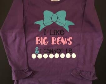 I loke big bows ruffle shirt