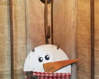 Hanging Snowman Head