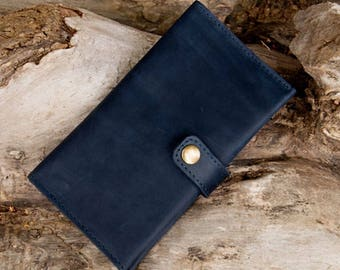 Leather wallet woman Travel wallet Leather passport cover Travel wallet mobile phone Women's long wallet Handmade leather Wallet card holder