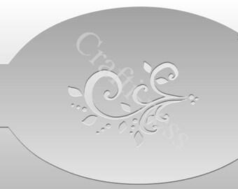 Crafti-Ness Flourish Swirl Stencil #005