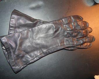 Black Soft Leather Gloves 6 1/2