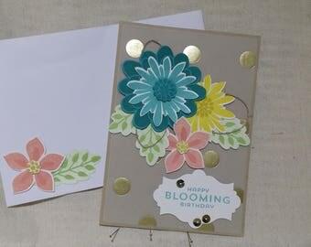 Birthday Card, Celebration, Ladies Card, Floral Card