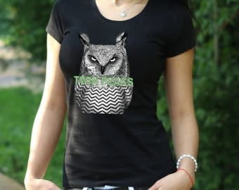 Twin Peaks Tshirt Twin Peaks Shirt Twin Peaks T-Shirt Twin Peaks Twinpeaks Shirt shirt owls tshirt owl shirt owls are not what they seem