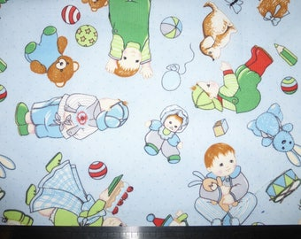 Cut of fabric 20 x 55 cm multicolored babies children