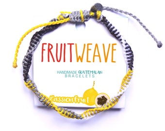 PASSION FRUIT DNA bracelet, Guatemalan Bracelets, Handmade bracelets, colorful bracelets, fruit based, fruit weave, friendship bracelets.
