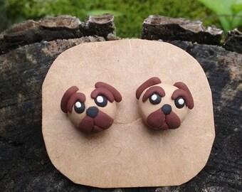 pug earrings/puppy earrings/customizable earrings/pet earrings