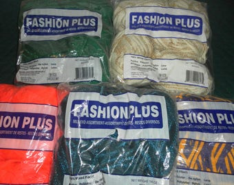 Lot of 24 skeins of Fashion Plus yarn great for scarves and other projects