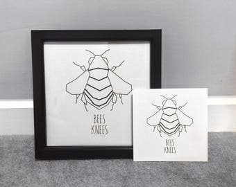 Bees Knees Wall Art Print