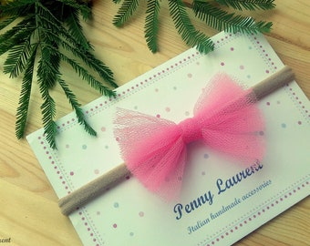 Pink tulle bow