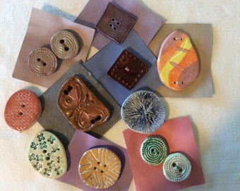 Polymer Clay Buttons  Variety of 12 buttons   # 3