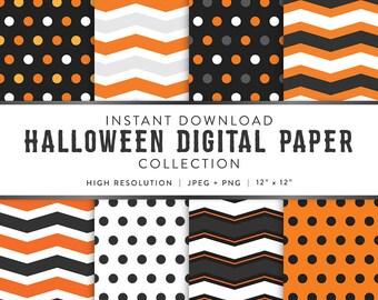 Digital Paper - Halloween Designs