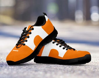 Tennessee Volunteers Football Fan Custom Black Running Shoes/Sneakers/Trainers - Ladies + Mens Sizes