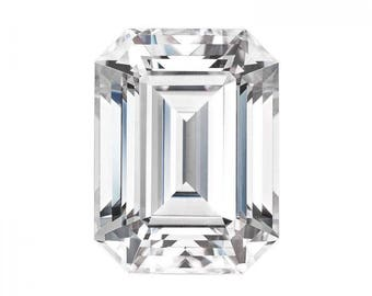 Forever One Moissanite Emerald Cut  7x5mm 1 + carat loose Charles and Colvard colorless D E F