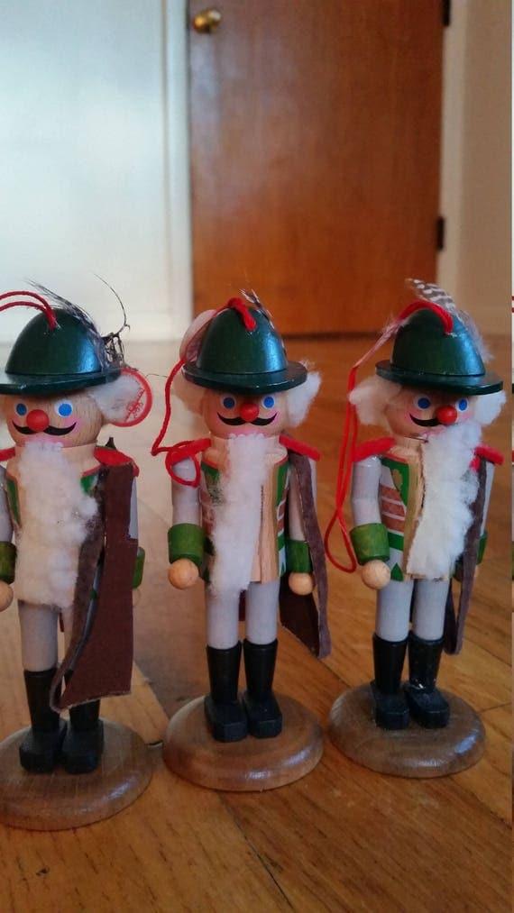 Steinbach Hunter Ornament Trio