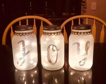 Personalized Mason Jar Lanterns