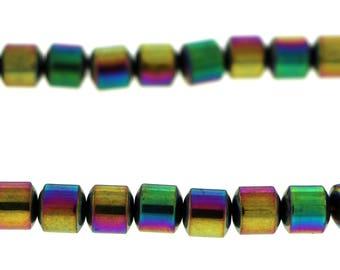6mm Magnetic Hematite Rainbow Drum Mh58