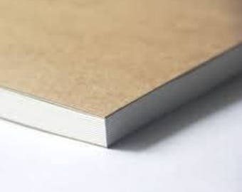 Blank Recycled Notebook, Journal, MUJI Style, Simple Unbranded book, Blank Recycled Journal, Customizable gift, Recycled shipping materials