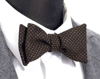 "Bow tie wool silk and Virgin ""Theophilus"" / ""Theophilus"" virgin wool & silk Bow Tie"