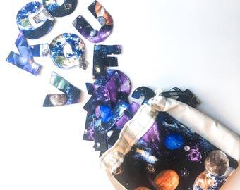Fabric letter set, sensory toy, fabric alphabet set, quiet activity, montessori letters, fabric alphabet, fabric letters, letter learning