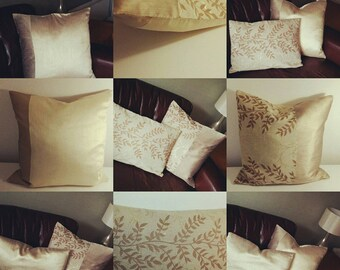 Champagne luxury cushion twinset