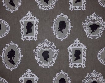 Waverly ABOUT FACE Licorice 674072 Framed Cameo Cotton Sateen Home Decor Drapery Upholstery Sewing Fabric By the Yard BTY
