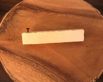 Wood bottle opener with screw