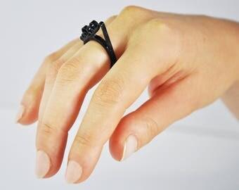 Ring 3d printed _ Arts  / Anello Stampa 3d _ Tema Arte