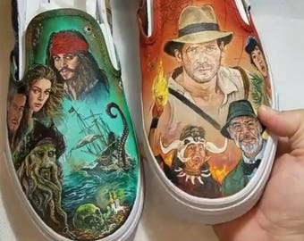 Hand-painted customizable shoes