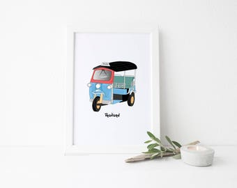 Thailand Travel Art Print - Tuk Tuk