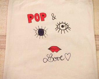 """Tote bag """"POP & LOVE"""""""