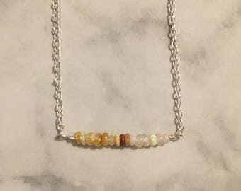 Tiny Opal Necklace