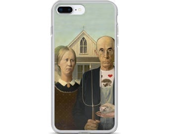 American Gothic Hedgehog Art Americana iPhone Case of Delight