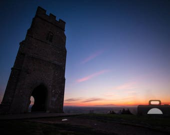 "Mounted Photographic Display Print - Glastonbury Tor #1 (A4 print in 14"" x 11"" Mount, Unframed)"