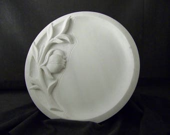 Handmade Marble Platter, Hand carved marble tray, marble sculpture, greek marble art