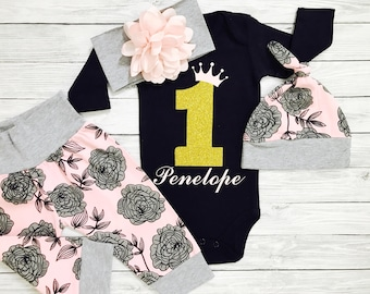 First Birthday Outfit Girl, 1st Birthday Outfit Girl, First Birthday Girl, 1st Birthday Girl, First Birthday Outfit Girl Personalized