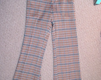 Vtg NOS With Tags 70s Flare Leg Pants LEVI Panatela Cuffer Knits  W29 L33