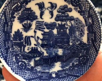 Occupied Japan Blue Willow Miniature China Partial Set