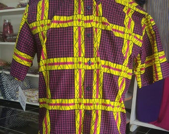 African wax print for men