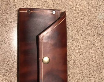 Leather clutch, women's wallet