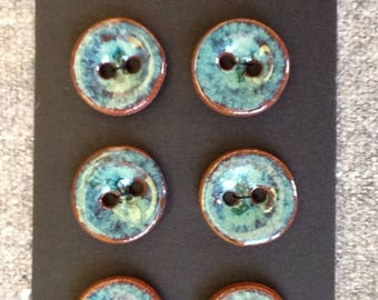Handmade ceramic buttons, perfect addition to hand knitted or hand sewn garments.