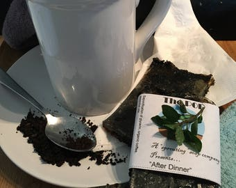 After Dinner coffee and mint scented soap