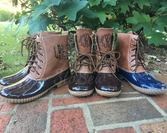 Monogrammed Duck Boots/Rain Boots/