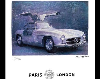 Fairchild Paris Publications Vintage Mercedes Print