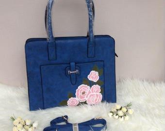 Handbag (pink roses)