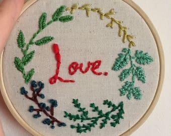 Valentine's Day 'love' hoop