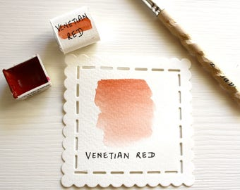 Venetian Red- Handmade Watercolor