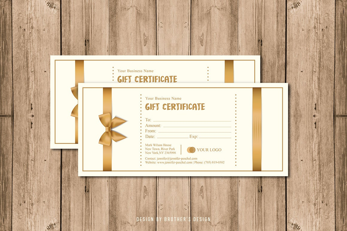 photography gift certificate template editable photoshop elements