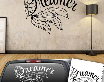 Dreamer Dream Catcher Decal